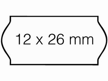 Etiket 26x12mm voor Prijstang Sato Samark wit permanent