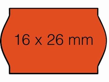 Etiket 26x16mm voor Prijstang Sato S14 wit afneembaar
