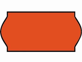 Etiket 26x12mm voor Prijstang Sato C6 fluor rood