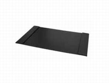 Luxe bureau onderlegger zwart met insteekvakken zijkant