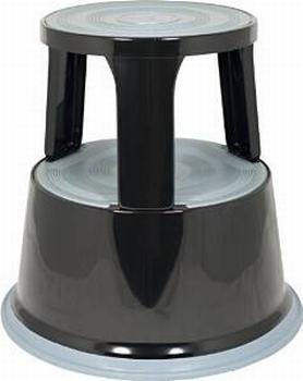 Opstapkruk rond metaal max. belasting 150 kg. zwart
