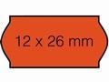 Etiket 26x12mm voor Prijstang Sato Samark fluor rood perm.