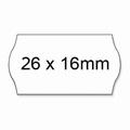 Prijstang etiketten 26x16mm voor model UNO AC5700 permanent