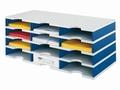 Vakkenkast Styrodoc A4 12 vakken blauw / grijs