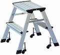 WEDO uitklapbare trap - 2 treden - aluminium - 150 kg.