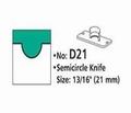 Rondhoekmes D21 duimgreep van 21 mm voor rondhoeker