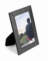 Luxe leatherlook fotolijst 10 x 15 cm zwart