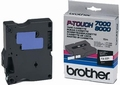 Brother Labeltape TX-221  9mm zwart op wit