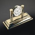 EL Casco M662 L  luxe bureauklok Gold plated
