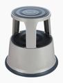 Opstapkruk rond metaal max. belasting 150 kg. grijs
