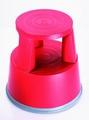 Opstapkruk rond plastic max. belasting 150 kg. rood